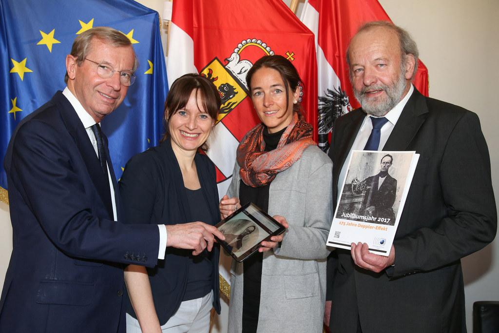 Landeshauptmann Wilfried Haslauer, Landesrätin Martina Berthold, Julia Eder (Wis..