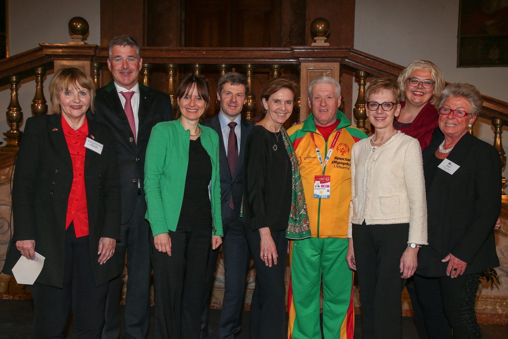 Elisabeth Zehetner President of Rotary Club Salzburg-Land, Andreas Pallauf Presi..