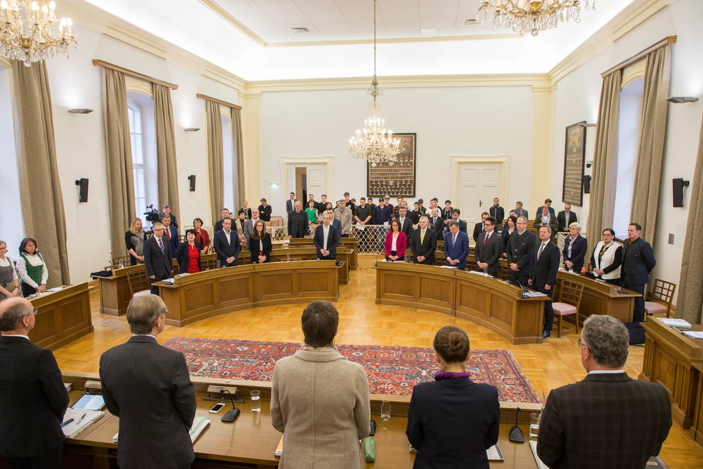 Das letzte Mal vor dem Umbau des Landtagstraktes tagte heute der Salzburger Land..