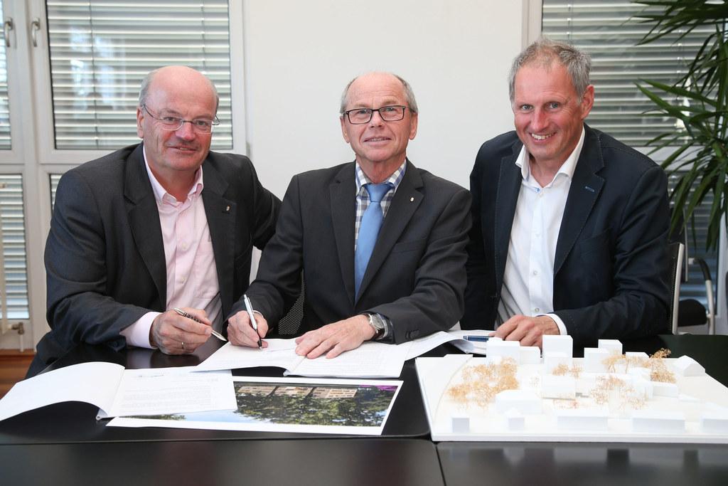 v. li. Christian Struber GF SWB, LH-Stv. Christian Stöckl und Roland Wernik GF S..
