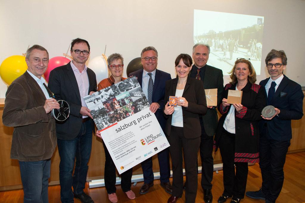 Von links:  Friedrich Urban, Ernst Kieninger, Monika Aistleitner, Landesrat Hein..