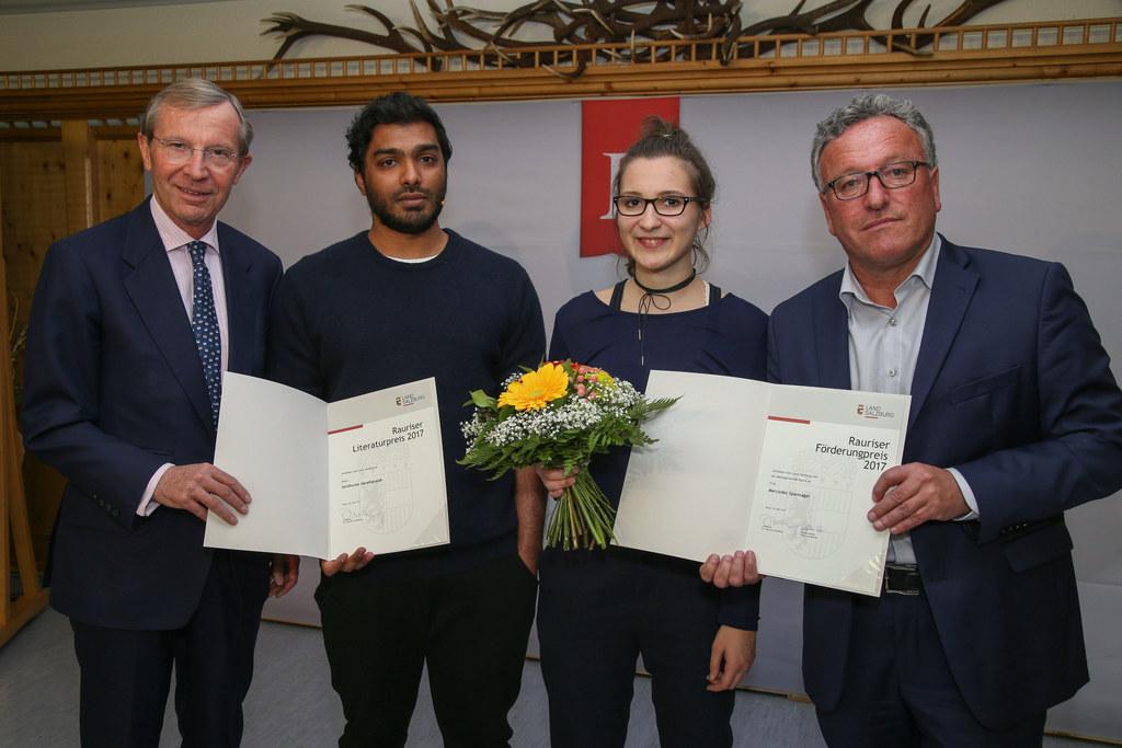 LH Wilfried Haslauer, Senthuran Varatharajah Preisträger Rauriser Literaturpreis..