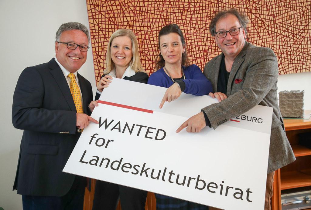 Landesrat Heinrich Schellhorn, Eva Veichtlbauer (Leiterin der Abteilung Kultur, ..