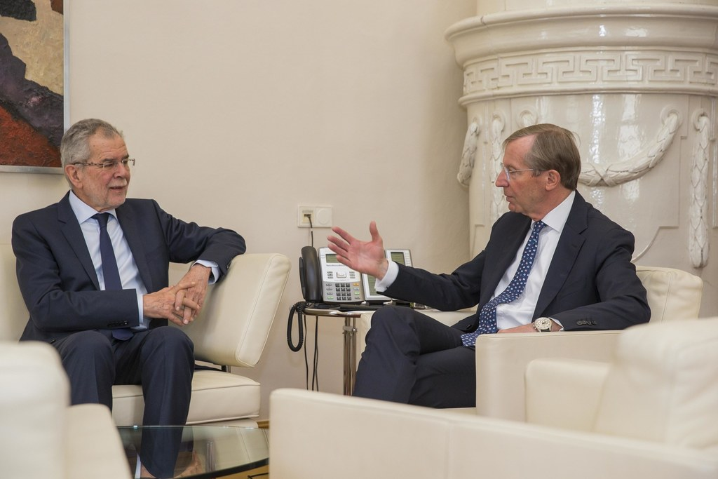 Bundespräsident Alexander Van der Bellen und Landeshauptmann Wilfried Haslauer