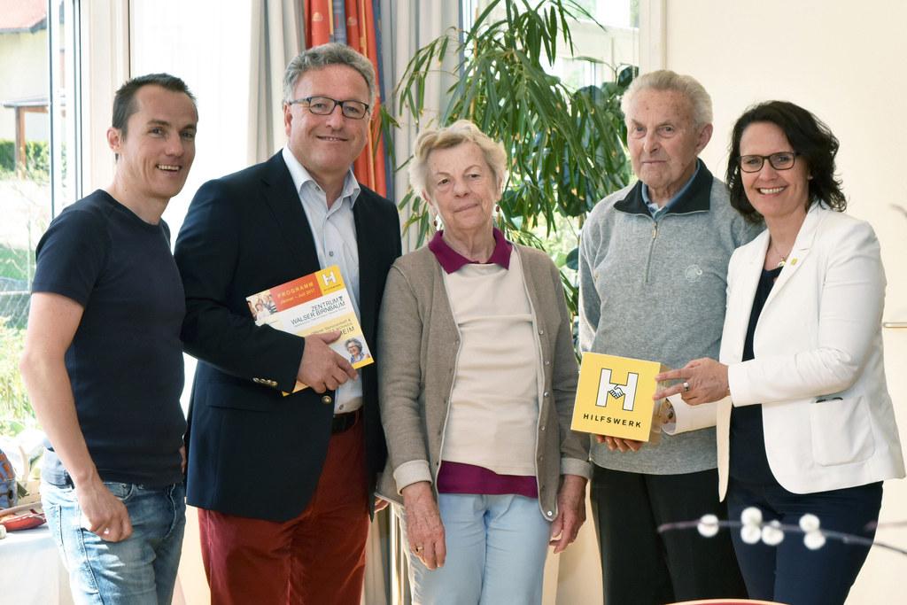 Manfred Eder, Landesrat Heinrich Schellhorn, Hilda Seebacher, Johann Hörbinger u..