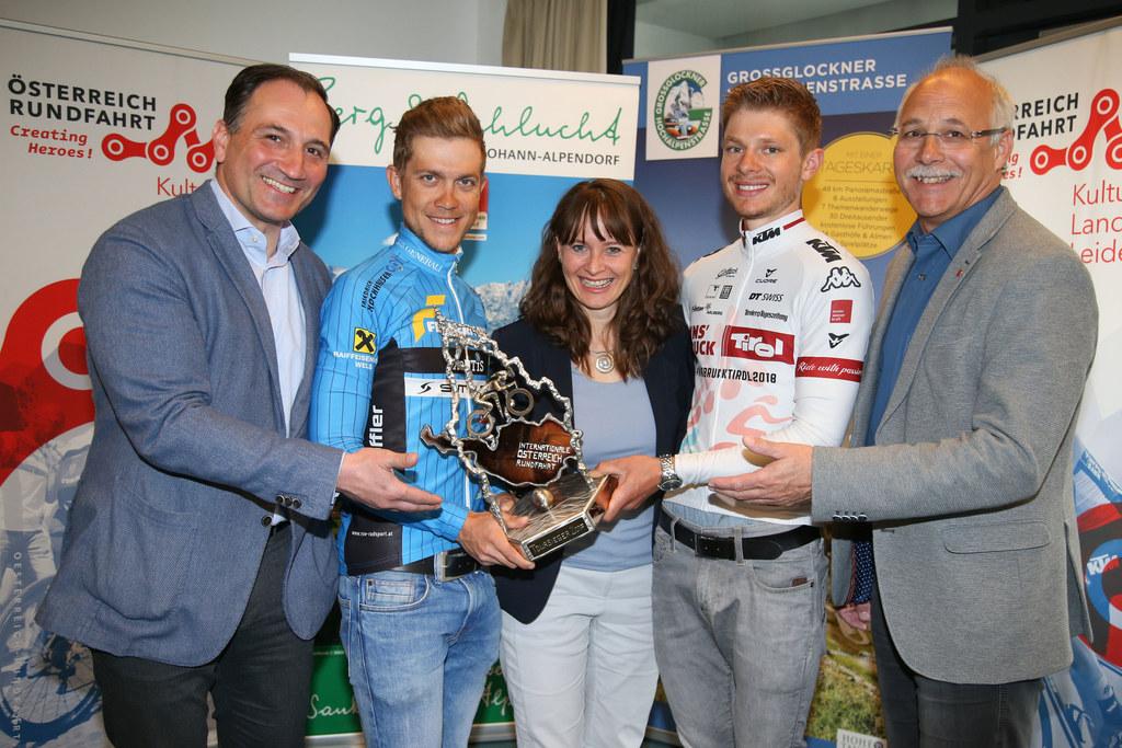 Gernot Schaar (Tourdirektor der Österreich-Rundfahrt), Riccardo Zoidl (Radrennfa..