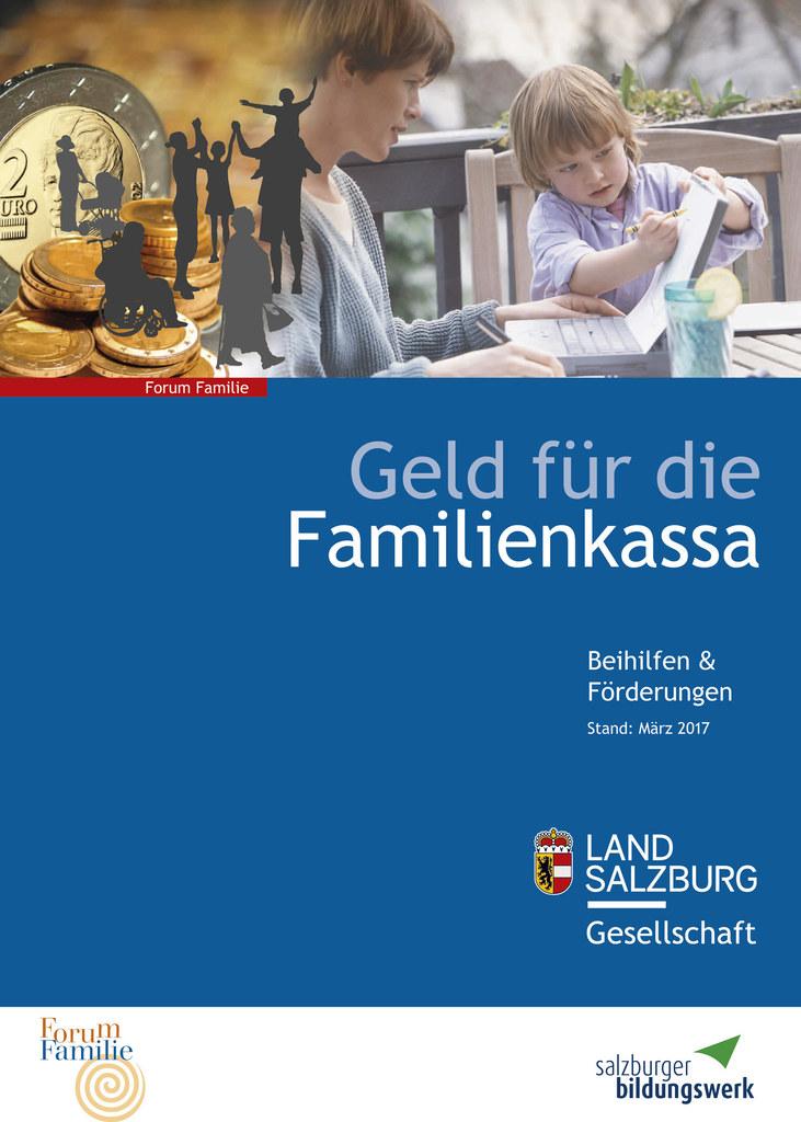 Info-Broschüre zu Förderungen für Familien