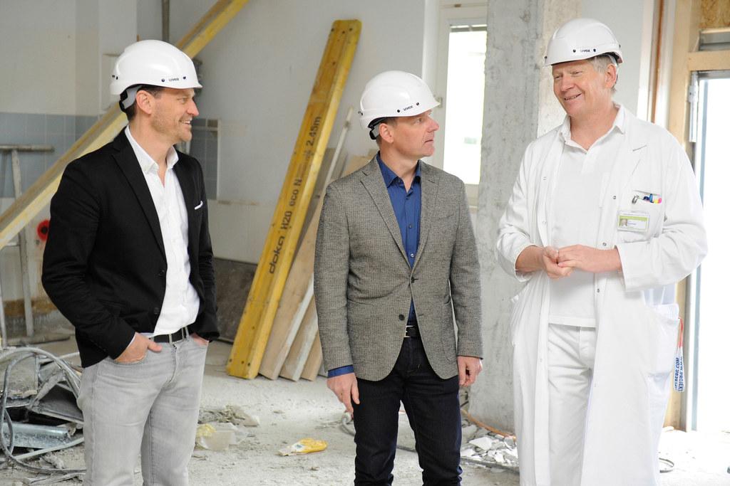 Projektleiter Michael Schwarz, Peter Pozgainer (ärztlicher Direktor der Tauernkl..