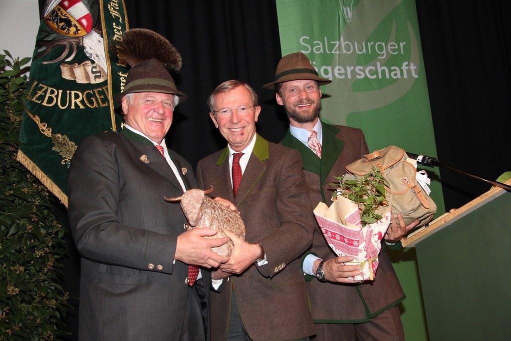 Josef Eder, Landeshauptmann Wilfried Haslauer und  Maximilian Mayr Melnhof