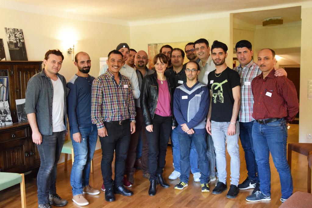 Landesrätin Martina Berthold besuchte den Verein Männerwelten für das Projekt