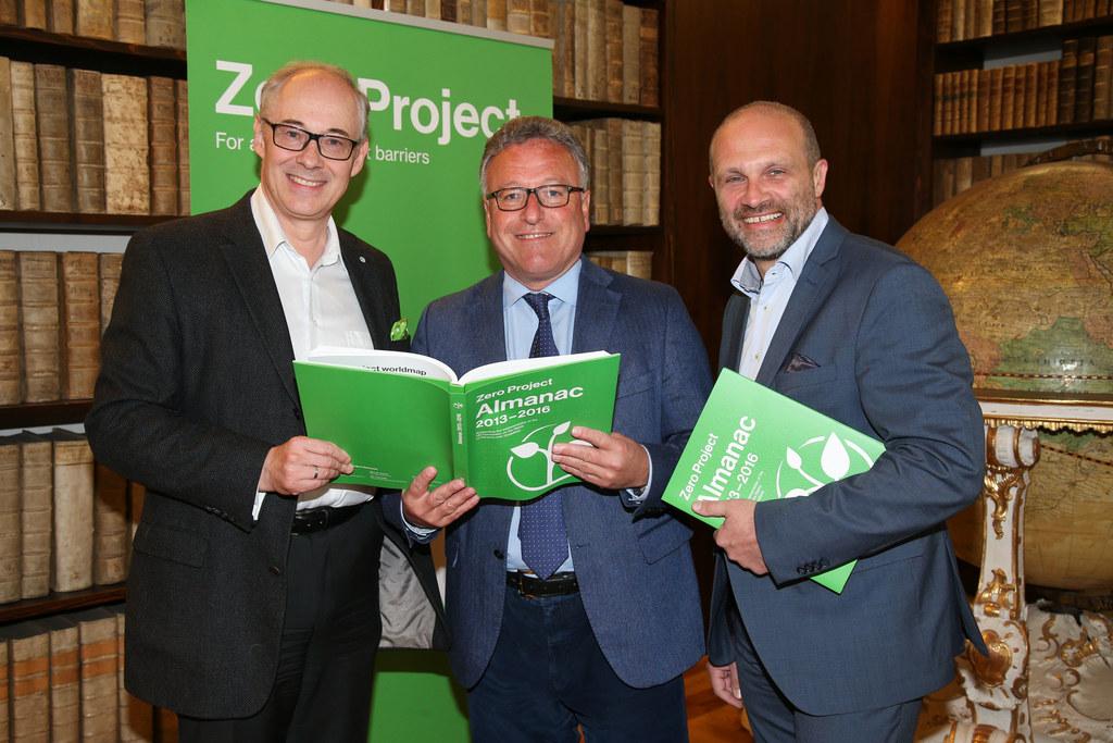 Martin Essl Initiator Zero Project, LR Heinrich Schellhorn, Guido Güntert GF Leb..
