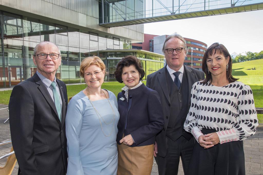 LH-Stv. Christian Stöckl, Babette Grabner, Studiengangsleiterin Gesundheits- und..