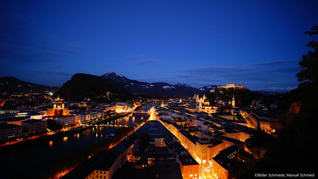 Salzburgs Gemeinden, hier die Stadt Salzburg bei Nacht, setzen Initiativen gegen..