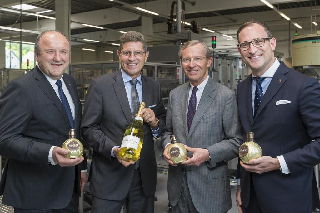 Herbert Jagersberger, Eduard Kranebitter, Landeshauptmann Wilfried Haslauer und ..