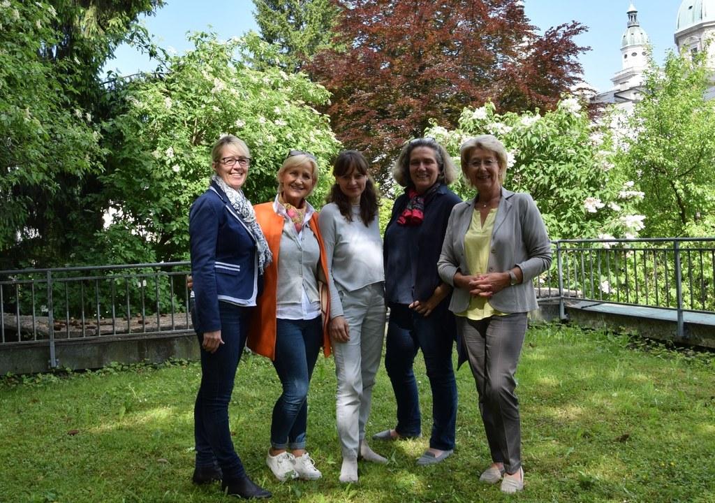 V. l. n. r.: Bürgermeisterin Michaela Höfelsauer (Lend), Bürgermeisterin Sonja O..