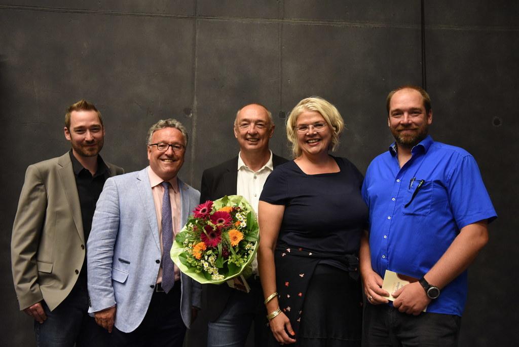 Bürgermeister-Stellvertreterin Anja Hagenauer, Landesrat Heinrich Schellhorn und..