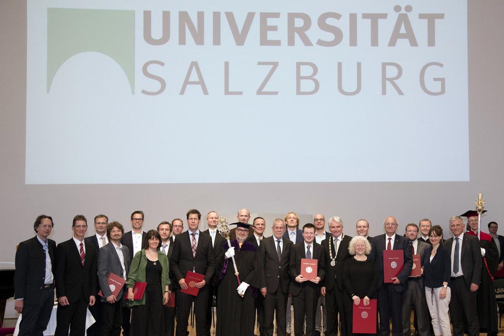 Beim Tag der Universität mit Bundespräsident Alexander Van der Bellen und Landes..