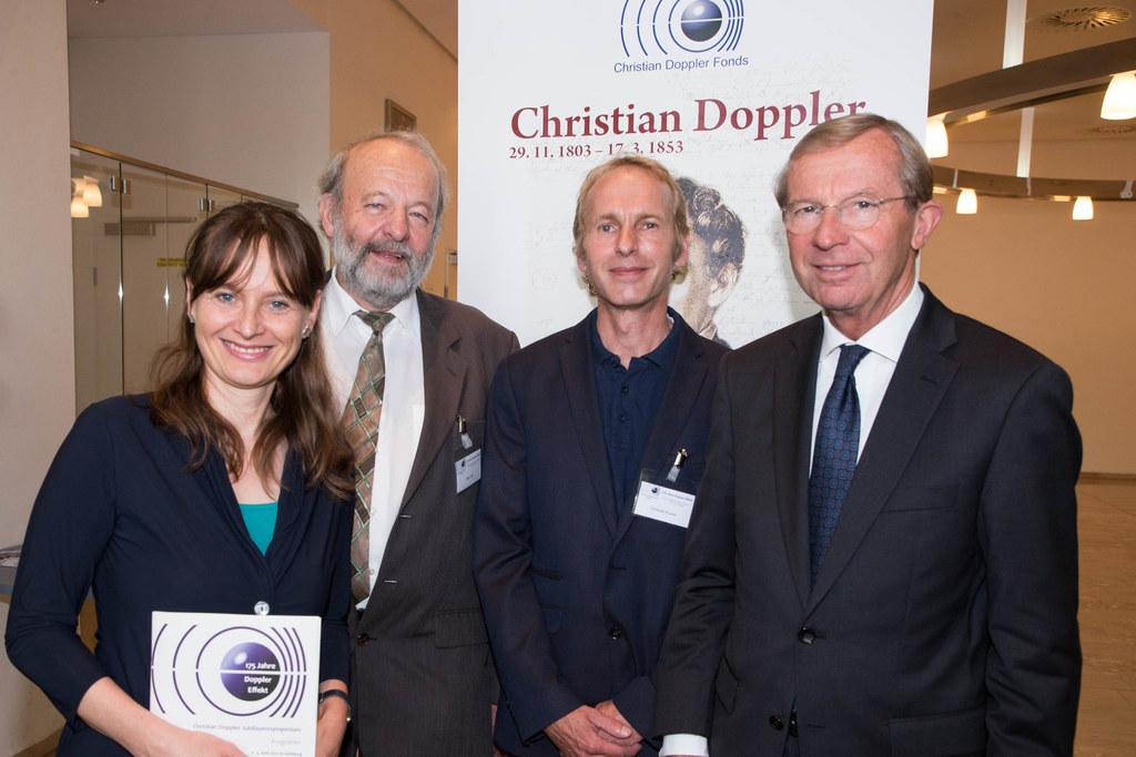 Landesrätin Martina Berthold, Peter Eckl (Präsident Christian Doppler Fonds), Ch..