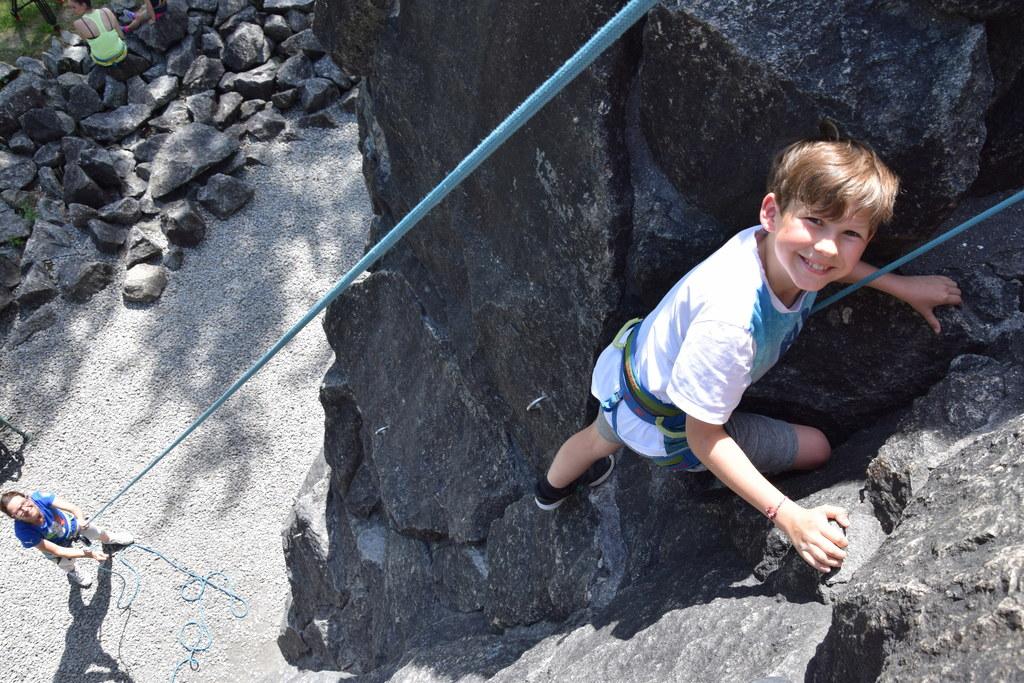 Auch Klettern ist Teil des SALTO-Projekts, wie hier am Kletterturm im Universitä..