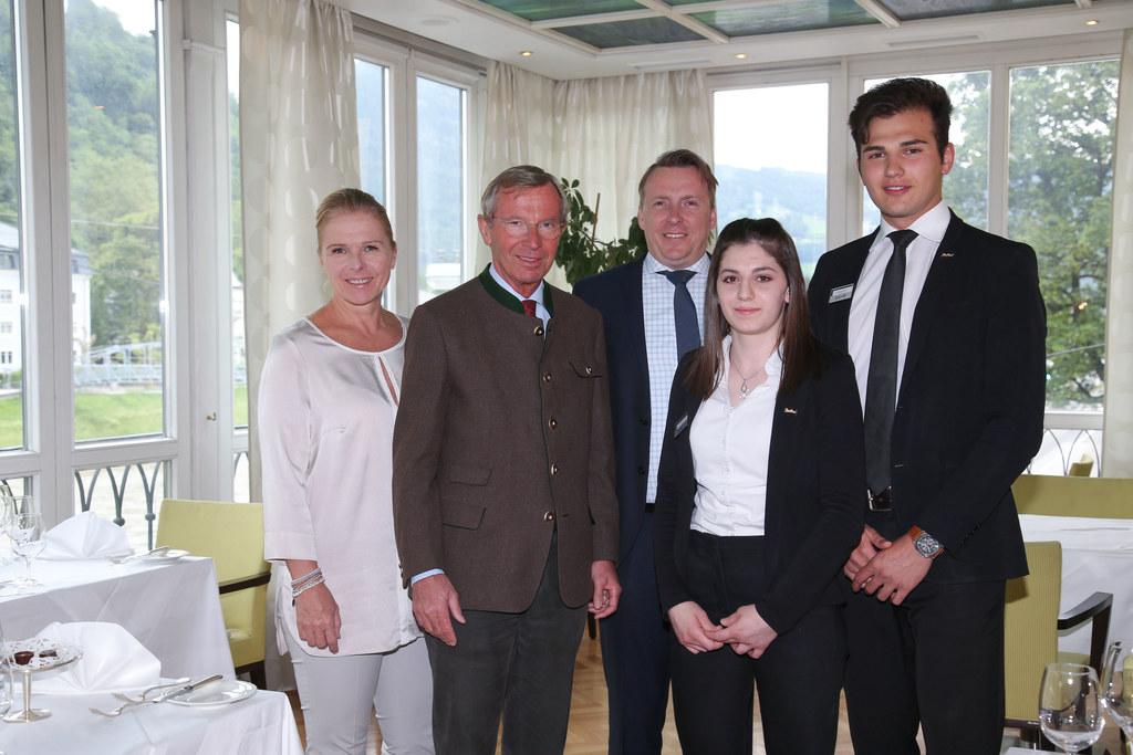 Michaela Reitterer ÖHV-Präsidentin, LH Wilfried Haslauer, Gerald Ritzinger Direk..