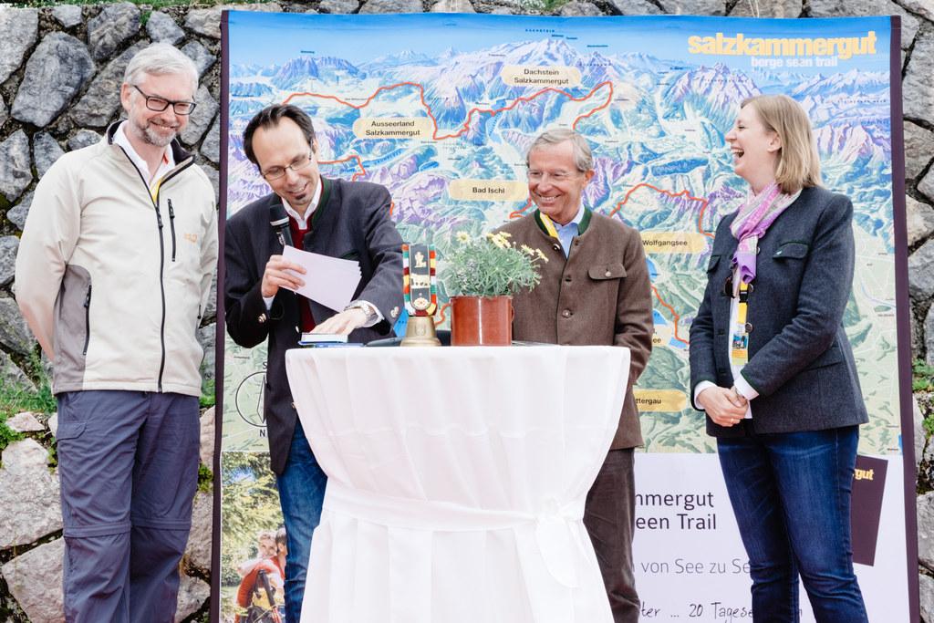 LH-Stv. (OÖ) Michael Strugl, Moderator Günther Madlberger, LH Wilfried Haslauer,..