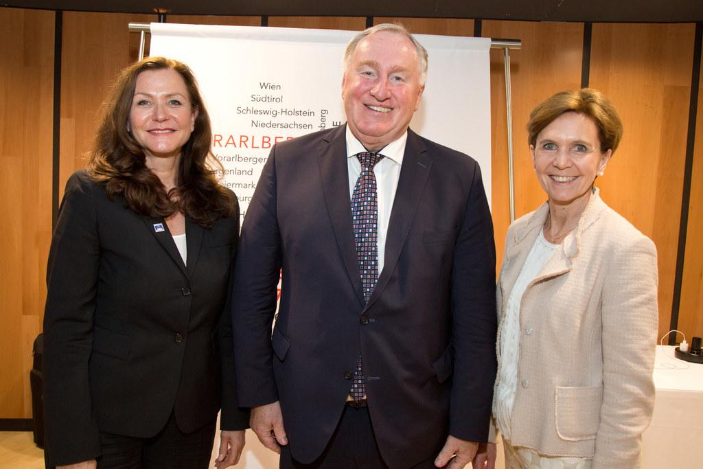 Landtagspräsidentenkonferenz in Vorarlberg. Von links nach rechts: Zweite Landta..