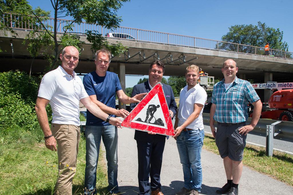 Kurt Haslauer, Werner David, Landesrat Hans Mayr, Thomas Strasser und Christian ..