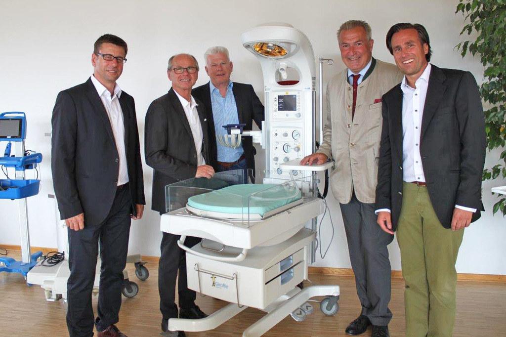 Geschäftsführer Gerhard Bertignol, LH-Stv. Christian Stöckl, Geschäftsführer Lud..