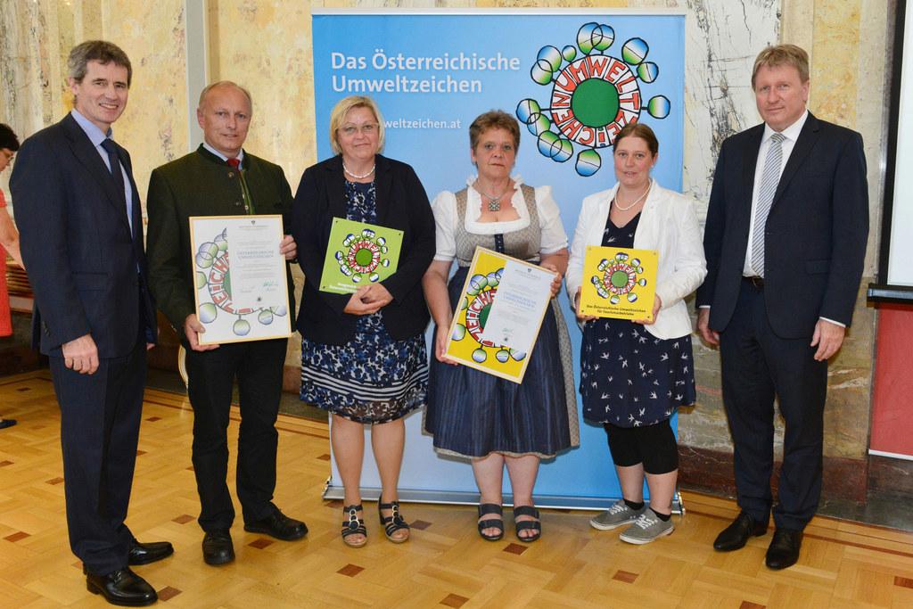 Christian Holzer, Sektionschef, BMLFUW; Christian Dullnigg, Dir. LFS Bruck; Ulri..