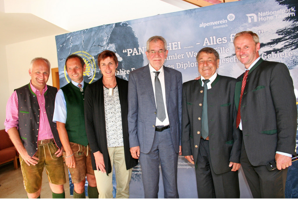 Christian Wörister, GF Ferienregion NPHT, NP-Direktor Wolfgang Urban, LH-Stellve..