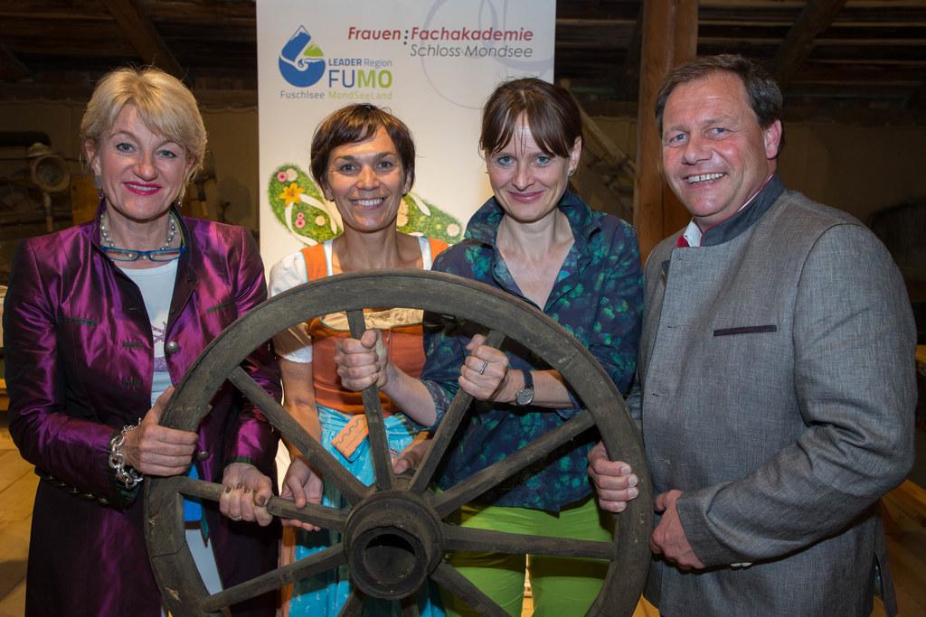 Brigitte Gruber, Evelyn ABlinger, Landesrätin Martina Berthold und Thomas Ließ