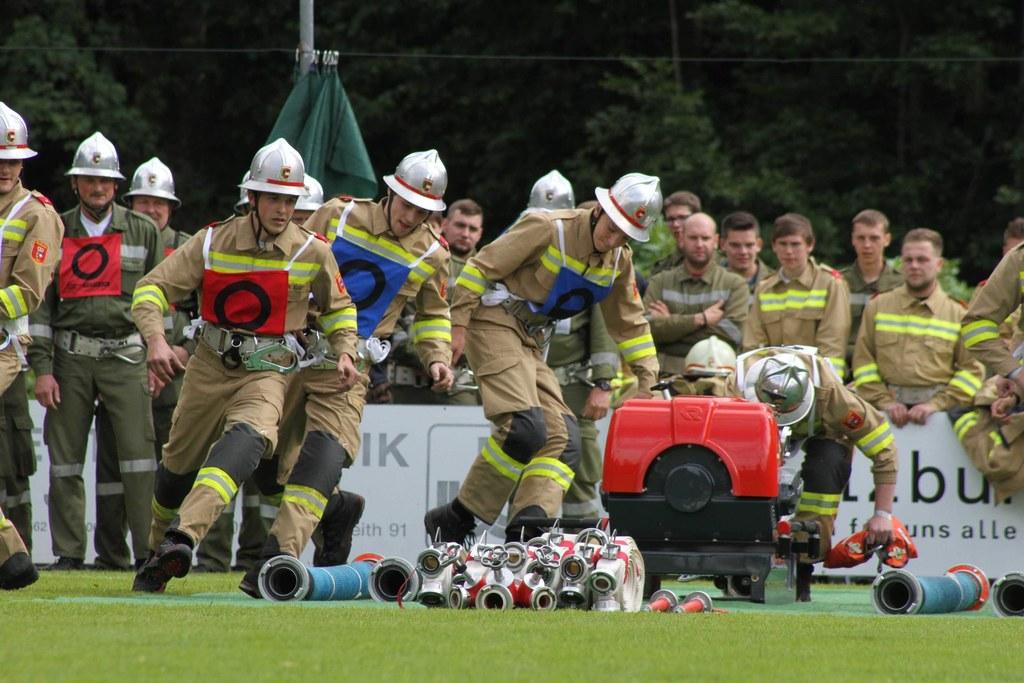 In den Disziplinen Löschangriff und Staffellauf konnten die Feuerwehrleute ihr K..