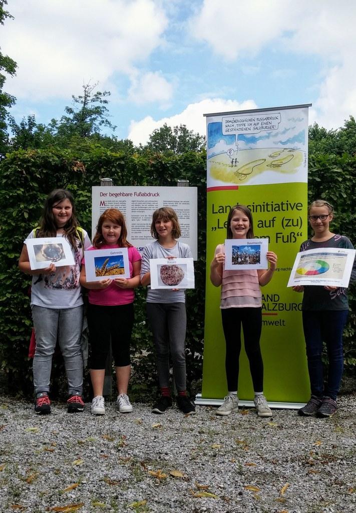 Diese Schülerinnen der Volksschule Köstendorf, Klasse 4b, konnten beim Aktionsta..