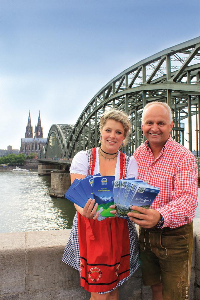 Nathalie Wolf (Köln Tourismus) und Christian Wörister (Geschäftsführer Ferienreg..