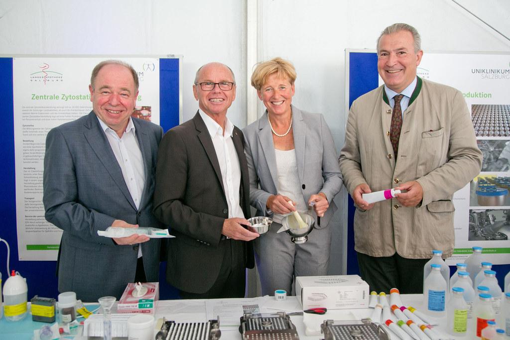 Günter Fellhofer (Leiter der Landesapotheke), Landeshauptmann-Stellvertreter Chr..