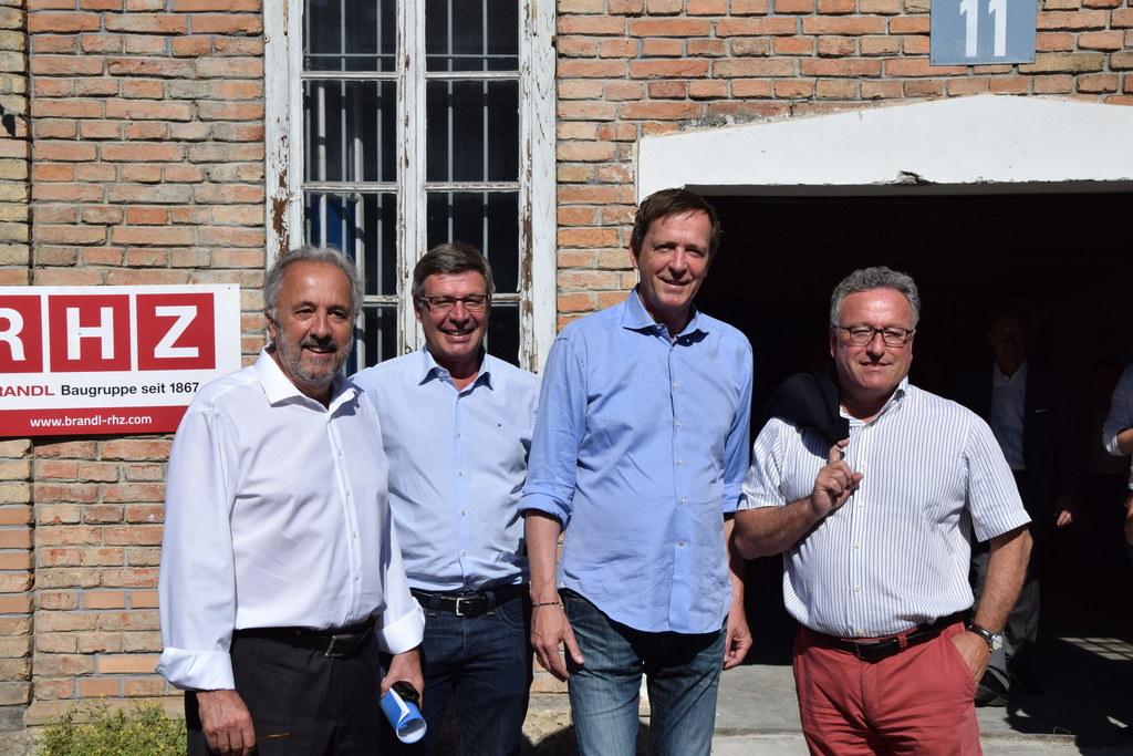 Bernhard Kopf (Direktor gswb), Josef Rettenwander (Geschäftsführer RHZ Bau), Joh..