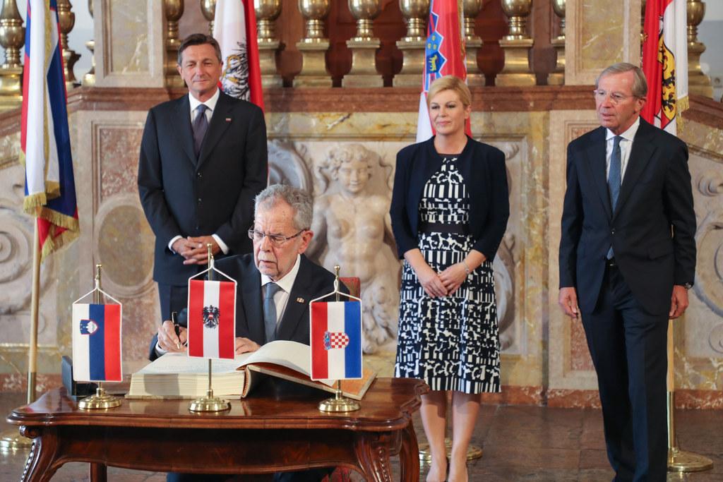 Der slowenische Staatspräsident Borut Pahor, Bundespräsident Alexander Van der B..