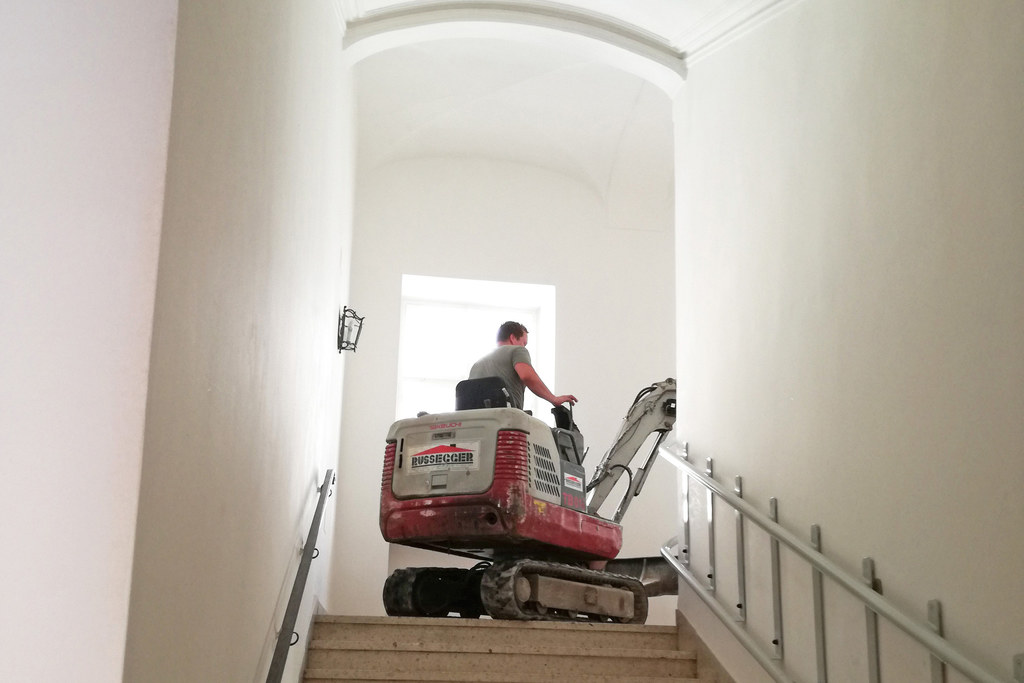Umbauarbeiten im Chiemseehof.