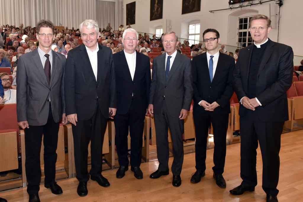 Eröffnung der Salzburger Hochschulwochen: (v. li.) Dietmar Winkler, Heinrich Sch..
