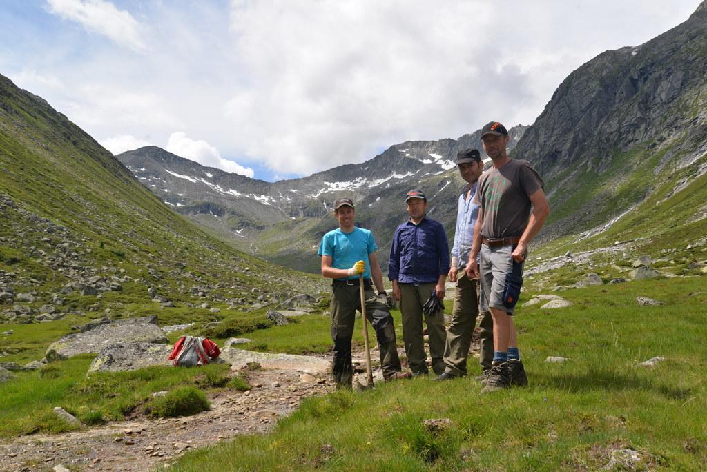 Hannes Millgrammer (Mitarbeiter im Nationalpark Hohe Tauern), Alireza Hasanzada ..
