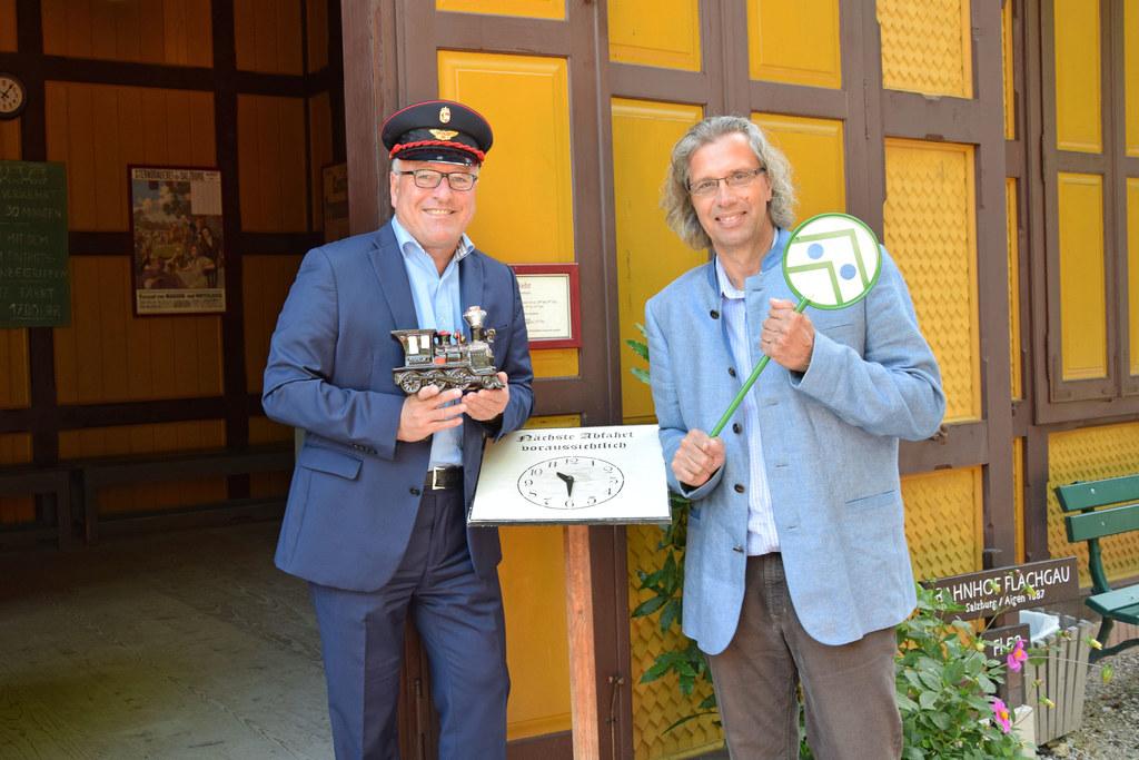 Landesrat Heinrich Schellhorn und Michael Weese, Direktor des Salzburger Freilic..