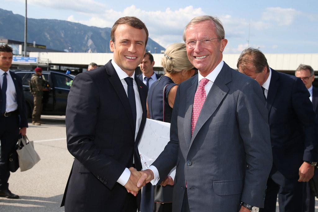 Zuletzt konnte Landeshauptmann Wilfried Haslauer den französischen Präsidenten E..