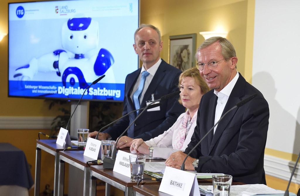 Landeshauptmann Wilfried Haslauer bei den Alpbacher Technologiegesprächen.