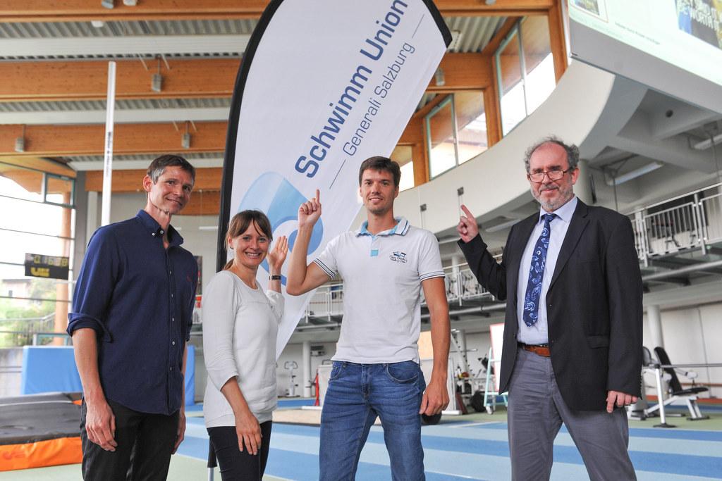 Clemens WEIS (Trainer), Landesrätin Martina Berthold, Oliver Schmich (Rekordschw..
