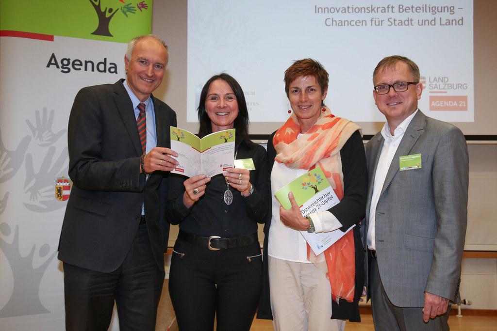 Reinhard Mang (Generalsekretär BMLFUW), Kristina Sommerauer (Organisatorin u. Ag..