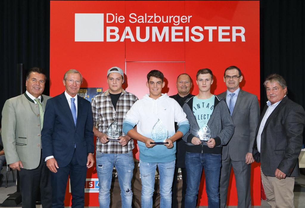 Tag der Baumeister mit LH Haslauer und Landesrat Mayr