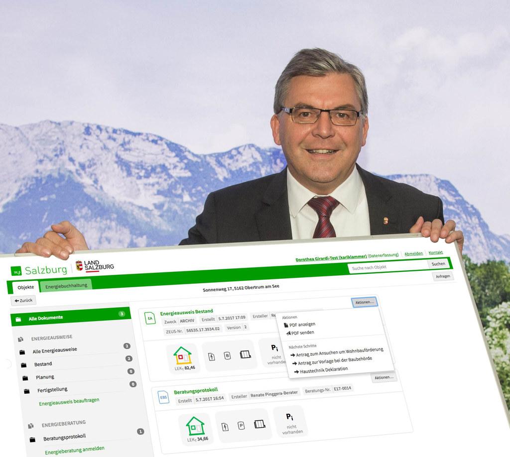 Auf der neugestalteten ZEUS-Plattform können zahlreiche Energieanliegen verwalte..