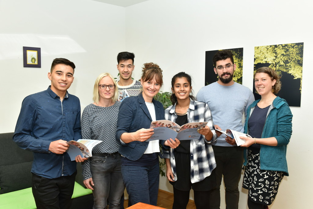 Rohullah Muhammadi, Martina Lettner (START Stipendium), Maisam Taheri, Landesrät..