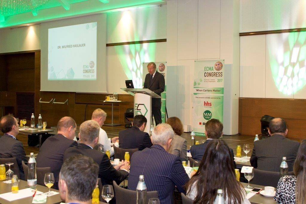 Landeshauptmann Wilfried Haslauer bei der Eröffnung des Jahreskongresses der Eur..