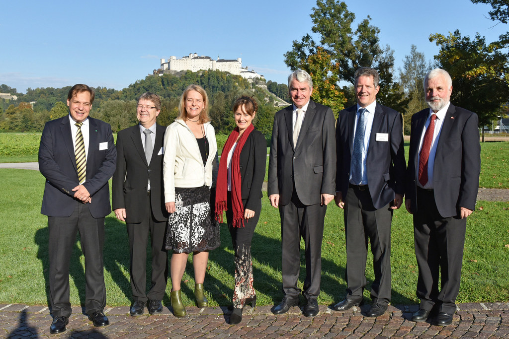 Oliver Diwald, Ernst Gruber, Nicola Hüsing, Landesrätin Martina Berthold, Rektor..
